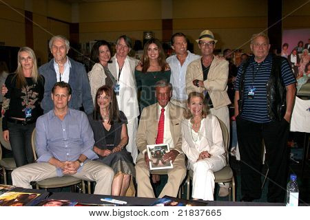 LOS ANGELES - JUL 16:  Dynasty & Colbys Cast Members at the Hollywood Show at Burbank Marriott Convention Center on July 16, 2011 in Burbank, CA