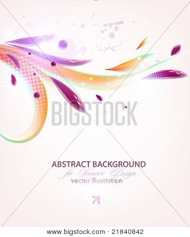 vector multicolor splat and a frame for abstract background