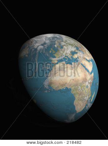 Europe And 3/4 Illuminated Earth