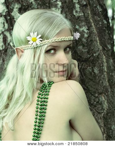 Elf-girl fairytale heroine