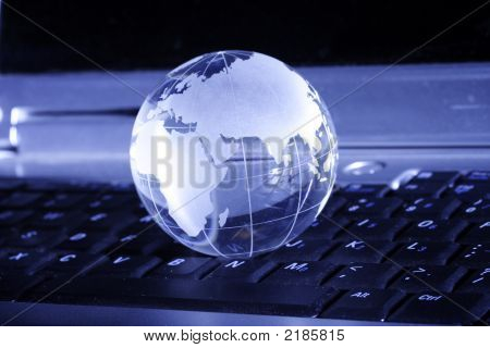 Globe On Key Board
