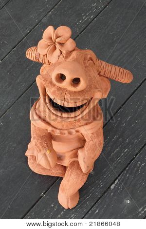 Buffalo pottery a smile