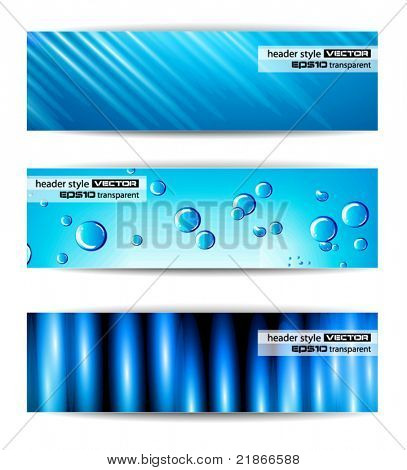 Set of abstract modern header banner for business flyer or website