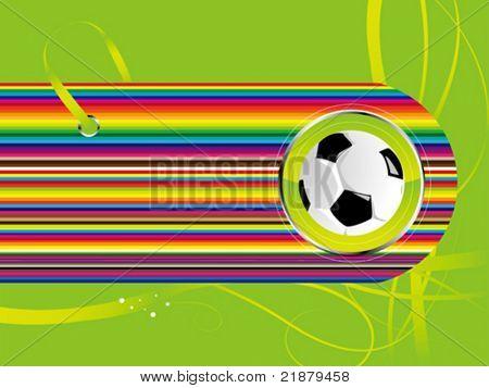 Vector fútbol fondo negro color verde con bola
