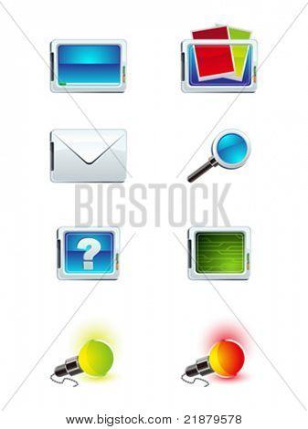 ocho de los iconos de vector para escritorio
