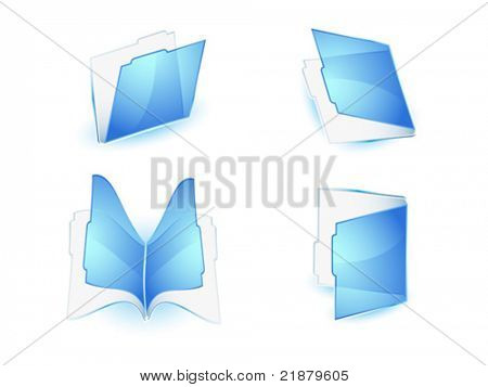 archivo transparente icono azul sobre fondo blanco