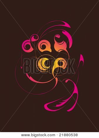 vector abstract inscription allegory dance with pattern