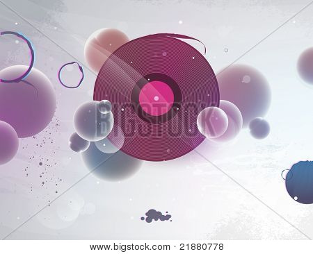 Abstract vinyl record for the dj party