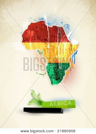 abstract illustration of the continent Africa