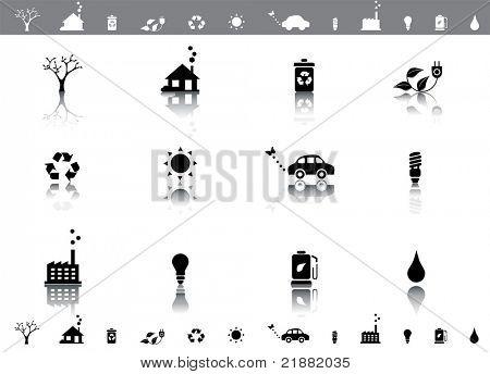 Ecological vector icon set