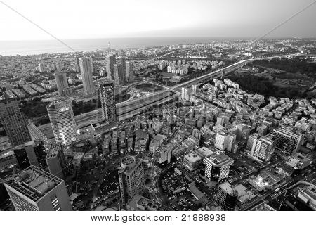 Tel Aviv in black and white, Ramat Gan Exchange District