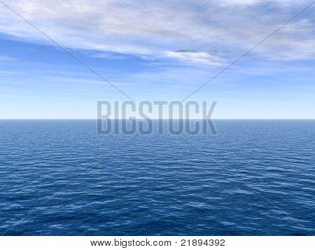 Hochauflösende blauen Wasser und Himmel Hintergrund, ideal für Natur und Sommer designs