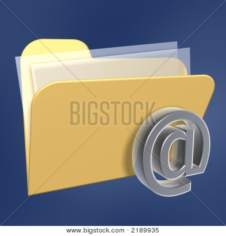 Files  Folder And Email Symbol