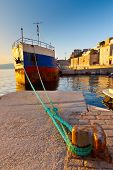 image of hydra  - Old ship in the port of Hydra - JPG