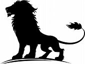 pic of lion  - Vector illustration of a silhouette of a proud lion - JPG