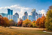Atlanta, Georgia, USA skyline from Peidmont Park. poster