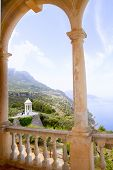Deia mirador des Galliner at  Son Marroig palace Majorca in Balearic islands