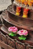 Постер, плакат: Китайский традиционный буддизм свеча