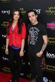 LOS ANGELES - MAY 20:  Bebe Rexha, Pete Wentz arriving at the 2011 Young Hollywood Awards at Club No