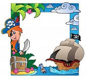 image of treasure chest  - Frame with sea and pirate theme 3  - JPG