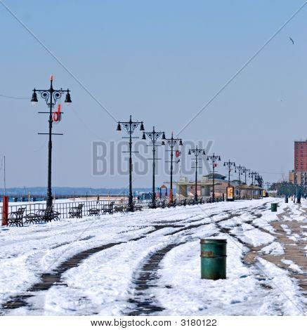 Boardwalk In The Winter