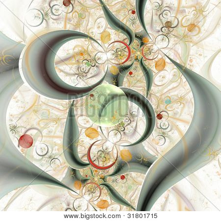 elegant abstract fractal background