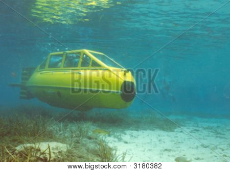 Yellow Submarine Underwater