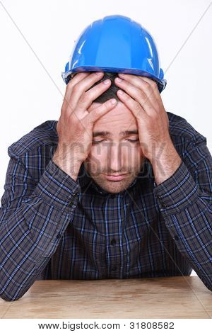 Overworked builder has had enough