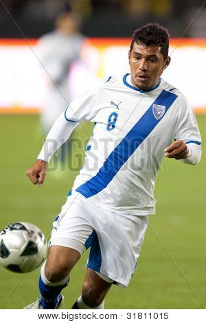 Guatemalan National Team forward Mario Castellanos #9 during the Club America vs Guatemala National Team holiday soccer friendly