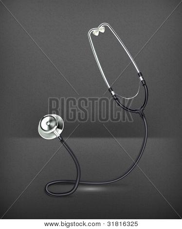 Stethoscope, vector