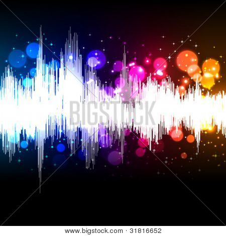 waveform music vector background