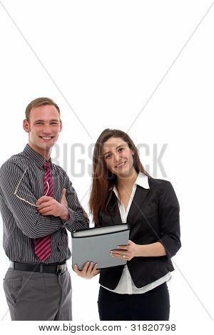 Business Colleagues Having Informal Meeting
