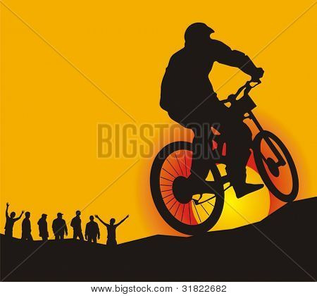 mountain biker (CMYK color profiles)