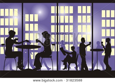 Evening supper Vector