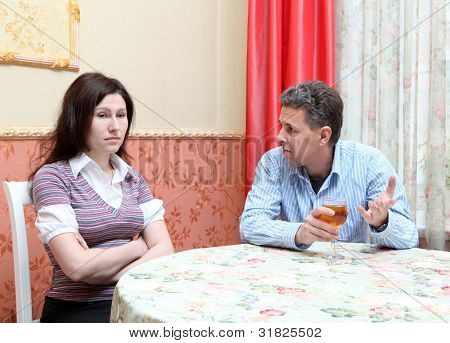 Scene in cafe - couple conflict