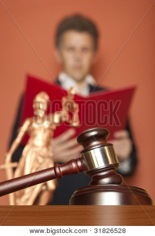 Gavel  & male judge