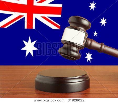 Gavel  and Flag of Australia