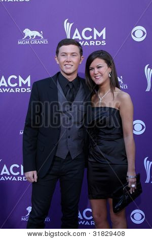 LAS VEGAS - APR 1:  Scotty McCreery, sister arrives at the 2012 Academy of Country Music Awards at MGM Grand Garden Arena on April 1, 2012 in Las Vegas, NV.