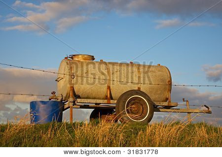 Water Tank On A Dike