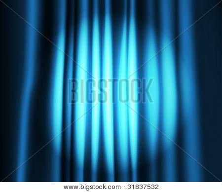 Theater Vorhang mit runden Fleck des Lichts
