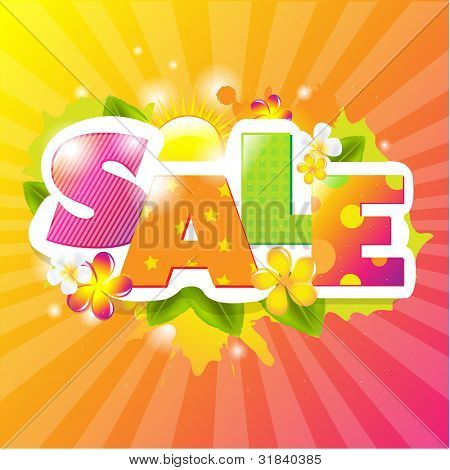 Summer Sale Design Template, Vector Illustration