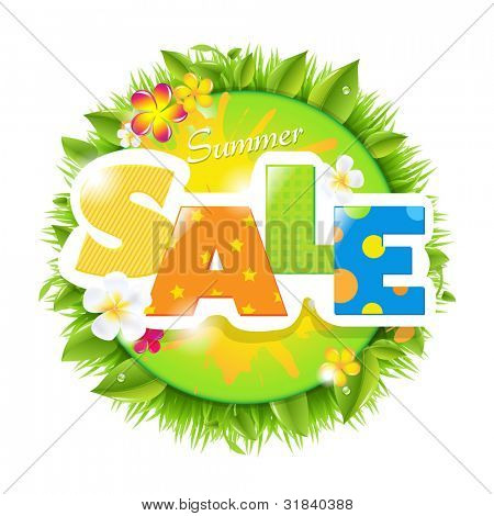 Summer Sale Design Template, Vector Illustration