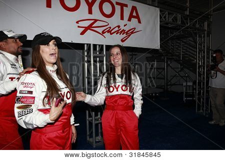 LONG BEACH, CA - APR 3: Jillian Barberie Reynolds, Kate Del Castillo at the 36th Annual 2012 Toyota Pro/Celebrity Race - Press Practice Day on April 3, 2012 in Long Beach, California