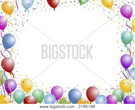 Balloon And Confetti Frame