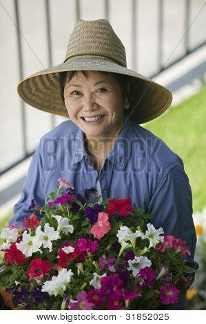 Gardener in Sun Hat