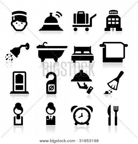 Hotel Icons set elegant series
