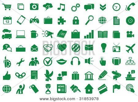 Collection of different icons for using in web and interface design