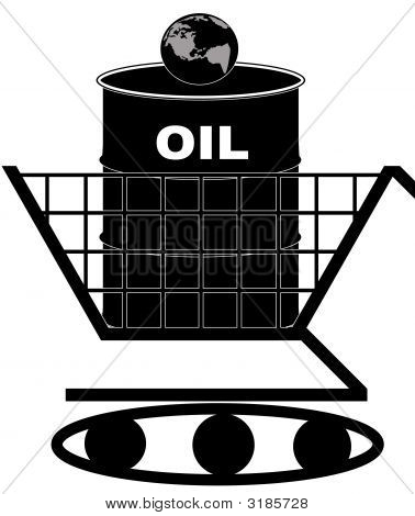Shopping Cart Tank Oil Barrel Earth