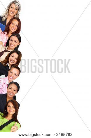 Mulheres sorridentes