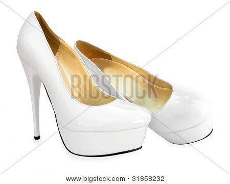 White high heels pump shoes